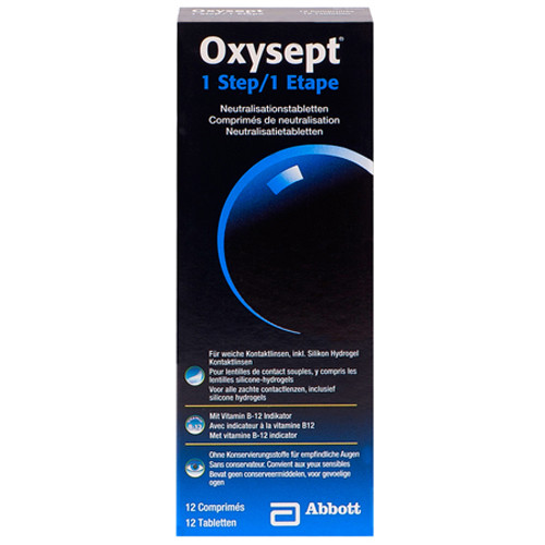 Oxysept 1 step neutralisation 12 cps